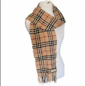 BURBERRY Merino Wool Polyester Vintage Check Scarf